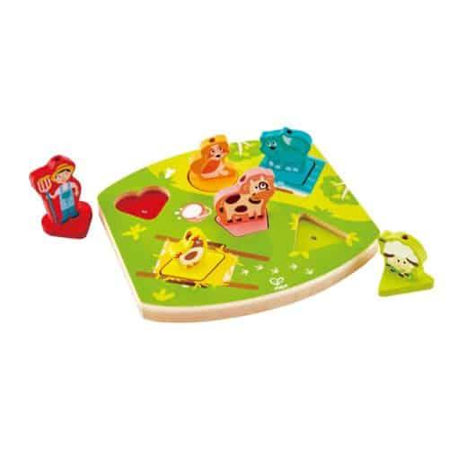 פאזל צלילים מעץ חווה   צעצועי התפתחות   פאזלים   צעצועי עץ