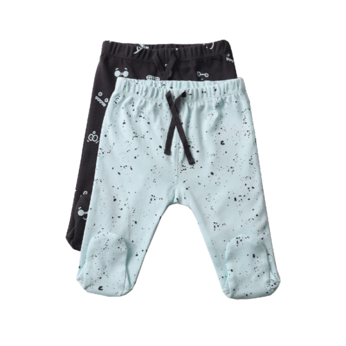 שני זוגות מכנסיים PC גוון מנטה NB | טקסטיל | ביגוד ראשוני | מכנסיים
