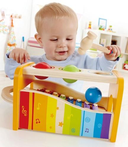 הך בפטיש קסילופון   צעצועי התפתחות   צעצועים מוסיקליים   צעצועי עץ