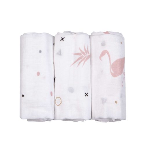 שלושה חיתולי מיני במבוק אננס 60*60 | טקסטיל | חיתולים | חיתולי במבוק | NINO