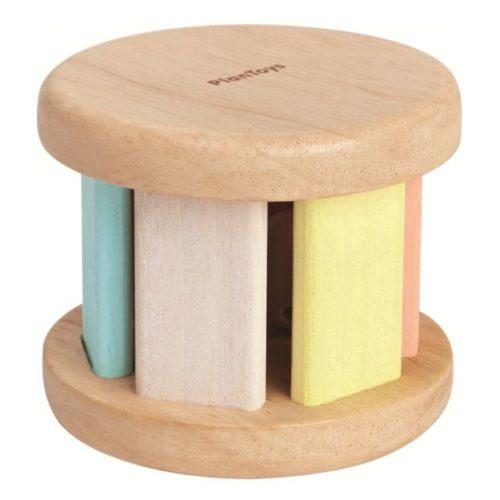 רעשן מתגלגל מעץ - פסטל   צעצועי התפתחות   רעשנים   צעצועי עץ   PLAN TOYS