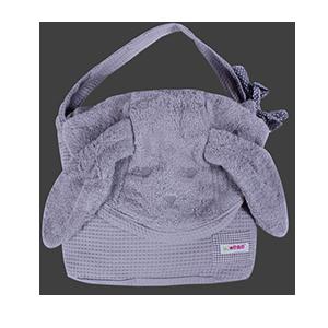 מגבת רחצה עם קשירה לצוואר גוון אפור בהיר | זמן אמבטיה | מגבות רחצה | מגבות קשירה לצוואר