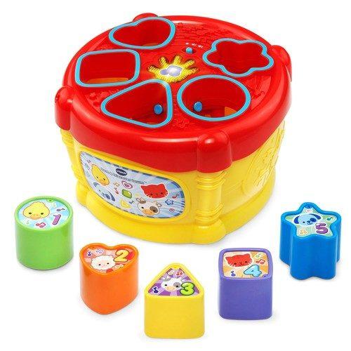 תוף הכנסת צורות-HEB | צעצועי התפתחות | התאמת צורות | צעצועים מנגנים אלקטרוניים | VTECH