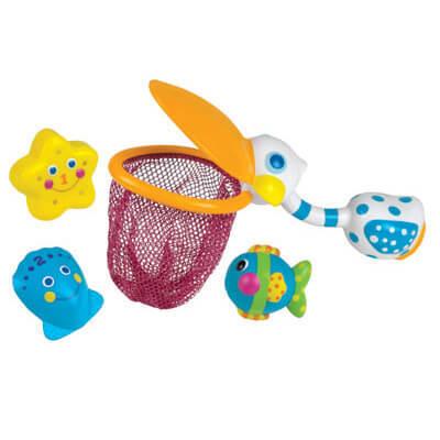 פליקן רשת דייגים פלוס יצורי ים SASSY   צעצועי התפתחות   צעצועי אמבטיה