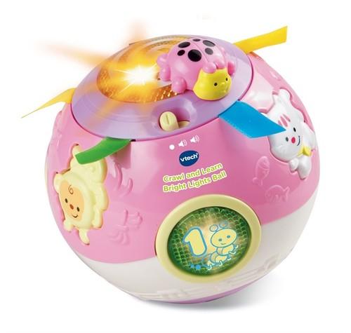 כדור תנועה ורוד | צעצועי התפתחות | צעצועי דחיפה | צעצועים מנגנים אלקטרוניים | VTECH
