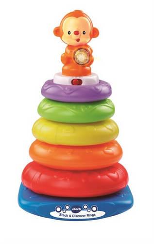 מגדל טבעות מוזיקלי | צעצועי התפתחות | קוביות ומשחקי השחלה | קוביות/צעצועים מנגנים | VTECH