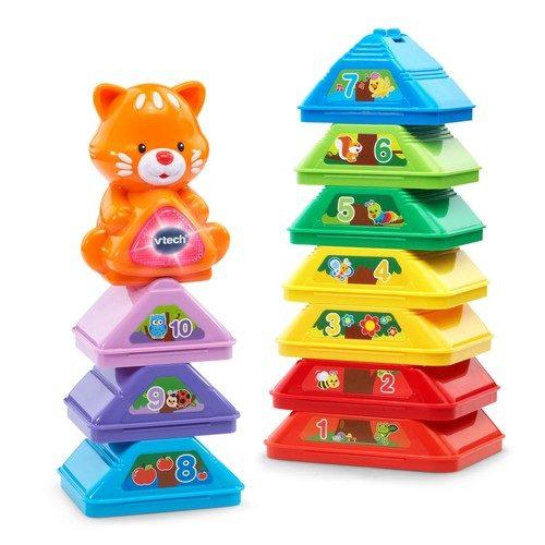 מגדל עץ | צעצועי התפתחות | קוביות ומשחקי השחלה | קוביות/צעצועים מנגנים | VTECH