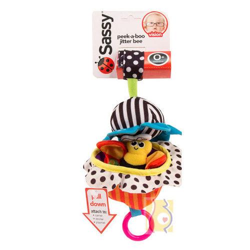 רעשן דבורה על פרח פיק SASSY   צעצועי התפתחות   מוביילים וצעצועי תליה   רעשנים