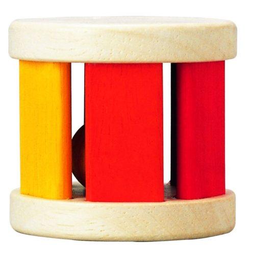 רעשן מתגלגל מעץ   צעצועי התפתחות   רעשנים   צעצועי עץ   PLAN TOYS