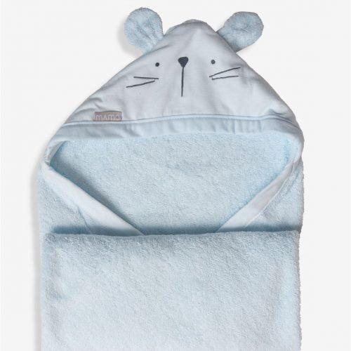 מגבת חיבוקי תכלת