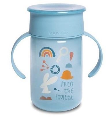 כוס אימון ושתיה 360 מעלות צבע כחול